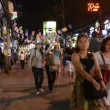 Stock Video: Patong Banglroad at night, Phuket, Thailand
