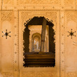 floral classical rajasthan ornament and arches — Stock Photo