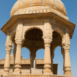 Stock Photo: Royal cenotaphs with floral ornament, India