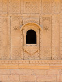Small window with floral ornament, India — Stock Photo