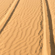 Of- road car track in desert — Stock Photo #23185026
