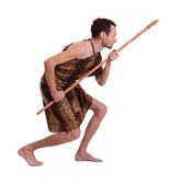 Savage man is following and hunting — Stock Photo