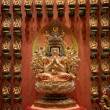 Buddhist statues in a temple — Stock Photo