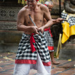 Traditional ritual Kris dance show on Bali — Stock Photo