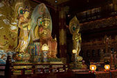 Buddha in Tooth Relic Temple in China Town, Singapore — Стоковое фото