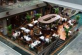 Cafe in Marina Bay Sands luxury shopping center — Stock Photo