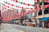 çin mahallesi sokak singapur dekore edilmiş — Stok fotoğraf