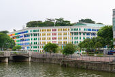 MICA building is colonial landmark in Singapore — Stock Photo
