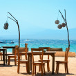 Cafe on the beach — Foto Stock