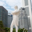 Stock Photo: Sir Raffles statue, Singapore