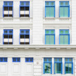 Retro windows with shutters - Stockfoto