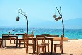 Café am strand — Stockfoto