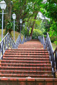 Modern stairs in a park — Stock Photo