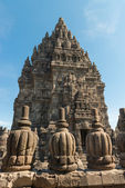 Decorated wall and roof of Prambanan temple, Indonesia — Stock Photo