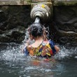 Stock Photo: Purification in sacred holy spring water, Bali