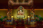 Buddha in Tooth Relic Temple in China Town, Singapore — Stock Photo