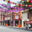 Decorated Chinatown street in Singapore — Stock Photo