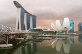 Modern architecture in Singapore city — Stock Photo