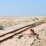 サーンバル塩、インドでは古い鉄道 — ストック写真