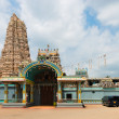 Big Hindu temple with the big tower (gopuram) — Stock Photo #27794503