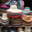 Hats on a shop — Stock Photo