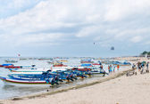 Tourist watersport beach on Bali — Stock Photo