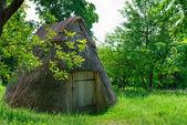 Wooden village storehouse — Stock Photo