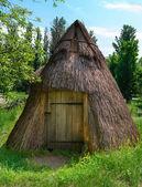 Armazém da vila de madeira — Fotografia Stock