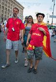 Fotbaloví fanoušci připraven jít na zápas — Stock fotografie