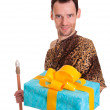 Sincere gift from wild man — Stock Photo #30290399
