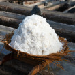 Basket with fresh extracted sea salt in Bali, Indonesia — Stock Photo