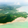 Aerial view of the tropical shore — Stock Photo
