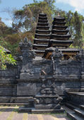 Traditional temple Balinese many tier palm roof — Stock Photo