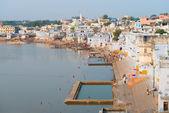 Heilige heilige plaats voor hindoes stad pushkar, india — Stockfoto
