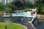 KLCC Park in Kuala Lumpur, Malaysia — Stock Photo