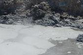 Mud volcanic geyser — Stock Photo