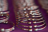 Metal bracelets — Stock Photo