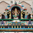 Hindu Gods on a temple facade — Stock Photo