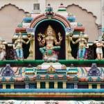 Hindu Gods on a temple facade — Stock Photo