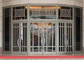 Elegant classical large two-leaf door — Stock Photo