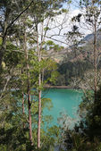 Lago vulcanico colorato — Foto Stock