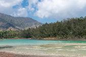Volcanic colorful lake — Stock Photo