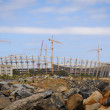 Stadium construction — Stockfoto