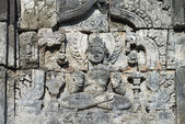 Buddha image in Candi Sewu Buddhist complex, Java, Indonesia — Stockfoto