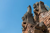 Details of ancient Burmese Buddhist pagodas  — Stock Photo