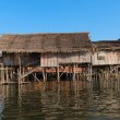 Traditional stilts house in water under blue sky — Stock Photo #41553105