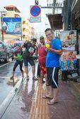 Celebration of Songkran Festival, the Thai New Year on Phuket — Stock Photo