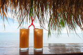 Summer tropical refresh cocktail drinks  — Stock Photo