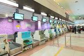 空港でのチェックイン ・ デスク — ストック写真