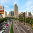 Traffic jam on a modern city in rush hour — Stock Photo #46711701